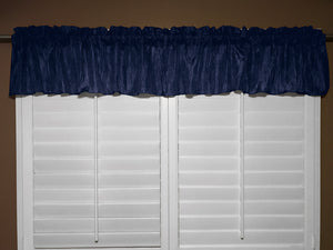 "Crinkle Taffeta Window Valance 52"" Wide Navy"
