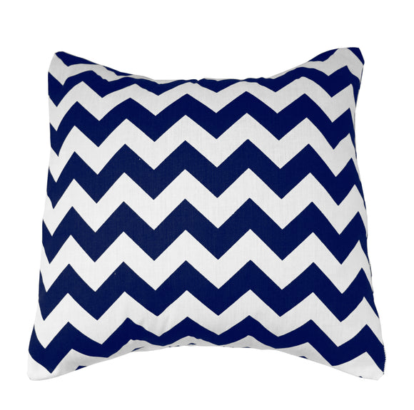Cotton Chevron Decorative Throw Pillow/Sham Cushion Cover Navy