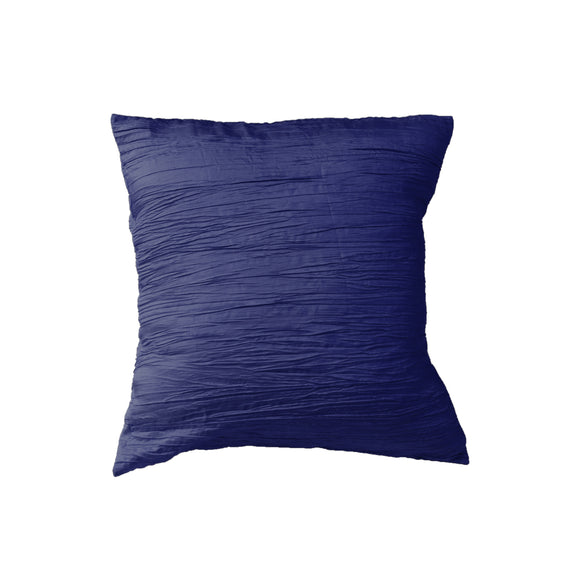 Crushed Taffeta Decorative Throw Pillow/Sham Cushion Cover Navy