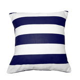 Cotton 2 Inch Stripe Decorative Throw Pillow/Sham Cushion Cover Navy & White