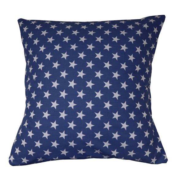 Cotton Stars Print Decorative Throw Pillow/Sham Cushion Cover Navy