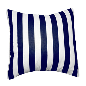 Cotton 1 Inch Stripe Decorative Throw Pillow/Sham Cushion Cover Navy and White