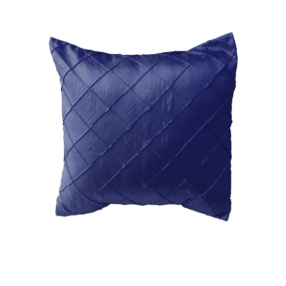 Pintuck Taffeta Decorative Throw Pillow/Sham Cushion Cover Navy