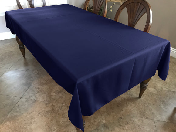 Solid Poplin Tablecloth Navy