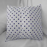 Cotton Small Polka Dots Decorative Throw Pillow/Sham Cushion Cover Navy on White
