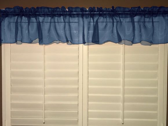 Sheer Organza Window Valance 58