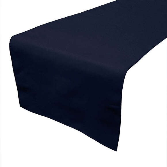 Poplin Table Runner Solid Navy