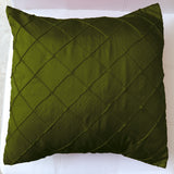 Pintuck Taffeta Decorative Throw Pillow/Sham Cushion Cover Olive