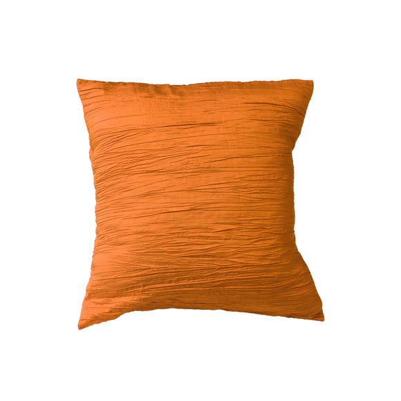 Crushed Taffeta Decorative Throw Pillow/Sham Cushion Cover Orange