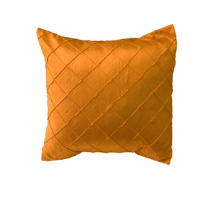 Pintuck Taffeta Decorative Throw Pillow/Sham Cushion Cover Orange