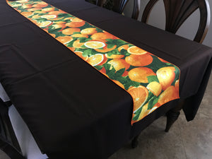 Cotton Print Table Runner Orange Slices