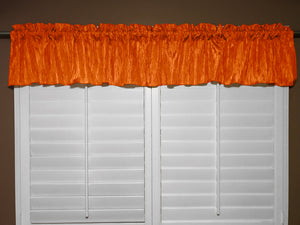 "Crinkle Taffeta Window Valance 52"" Wide Orange"