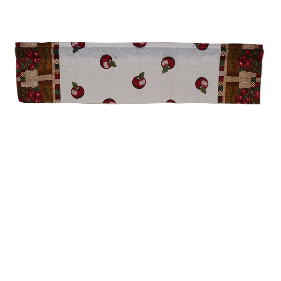 Cotton Orchard Grown Apples Print Window Valance 58