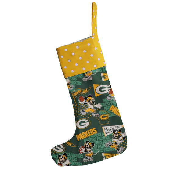 Christmas Stocking Mickey Mouse GB Packers Football Team