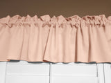 "Solid Poplin Window Valance 58"" Wide Peach"
