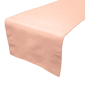 Poplin Table Runner Solid Peach