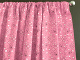 Cotton Bandanna Window Curtain 58 Inch Wide Pink