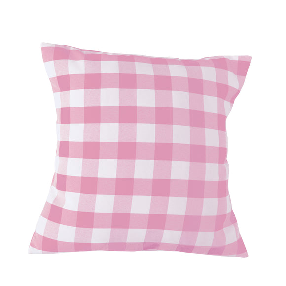 Gingham Checkered Decorative Throw Pillow/Sham Cushion Cover Pink & White