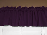 "Solid Poplin Window Valance 58"" Wide Plum"