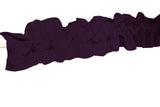 Solid Poplin Curtain Sleeve Topper Plum