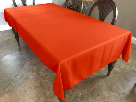 Solid Poplin Tablecloth Pumpkin Orange