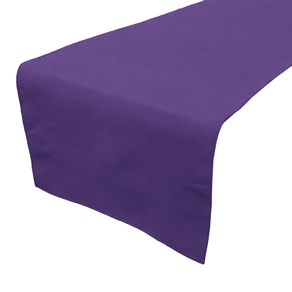 Poplin Table Runner Solid Purple