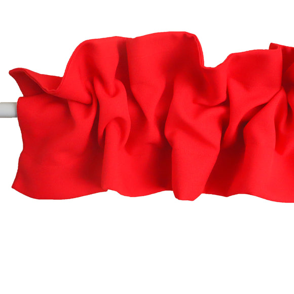 Solid Poplin Curtain Sleeve Topper Red