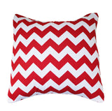 Cotton Chevron Decorative Throw Pillow/Sham Cushion Cover Red