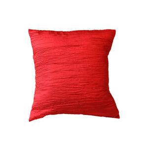 Crushed Taffeta Decorative Throw Pillow/Sham Cushion Cover Red