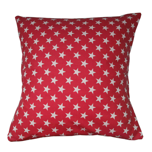 Cotton Stars Print Decorative Throw Pillow/Sham Cushion Cover Red