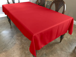 Solid Poplin Tablecloth Red