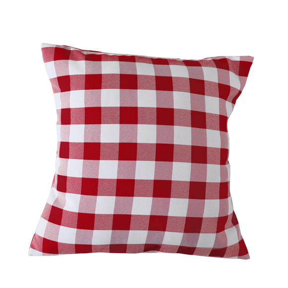 Gingham Checkered Decorative Throw Pillow/Sham Cushion Cover Red & White