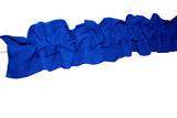 Solid Poplin Curtain Sleeve Topper Royal Blue