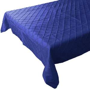 Pintuck Taffeta Tablecloth Royal Blue