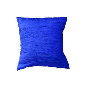 Crushed Taffeta Decorative Throw Pillow/Sham Cushion Cover Royal Blue