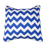 Cotton Chevron Decorative Throw Pillow/Sham Cushion Cover Royal Blue