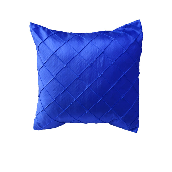 Pintuck Taffeta Decorative Throw Pillow/Sham Cushion Cover Royal Blue