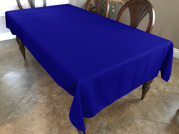 Solid Poplin Tablecloth Royal Blue