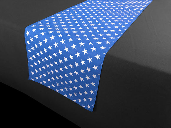 Cotton Print Table Runner Stars Blue