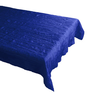 Crinkle Style Crushed Taffeta Tablecloth Royal Blue