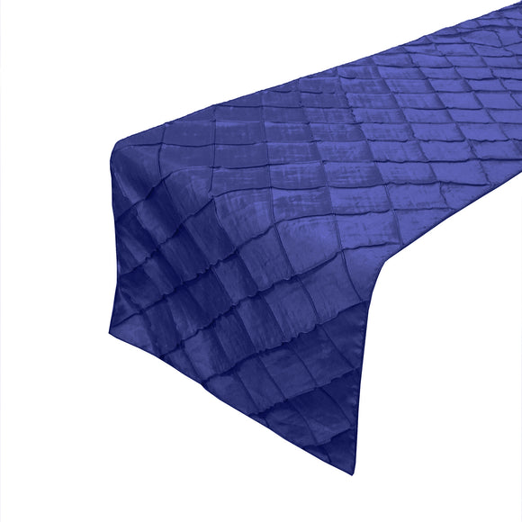 Pintuck Taffeta Table Runner Royal Blue