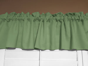 "Solid Poplin Window Valance 58"" Wide Sage"
