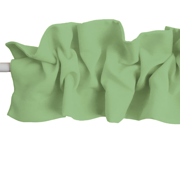 Solid Poplin Curtain Sleeve Topper Sage