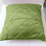 Pintuck Taffeta Decorative Throw Pillow/Sham Cushion Cover Sage
