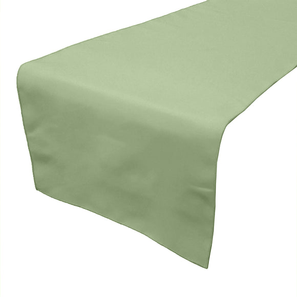 Poplin Table Runner Solid Sage
