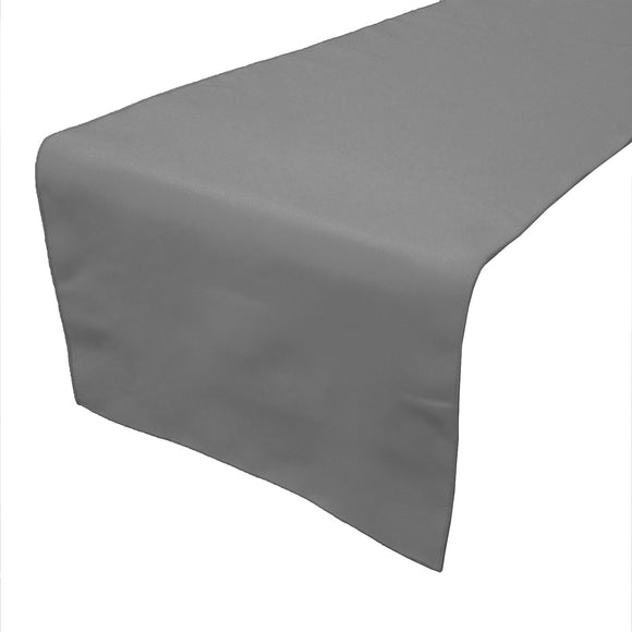 Poplin Table Runner Solid Silver