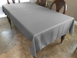 Solid Poplin Tablecloth Silver