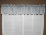 "Solid Poplin Window Valance 58"" Wide Silver"