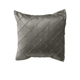 Pintuck Taffeta Decorative Throw Pillow/Sham Cushion Cover Silver