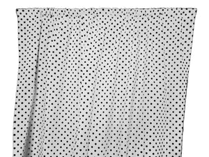 Cotton Polka Dots Window Curtain 58 Inch Wide Small Dots Black on White